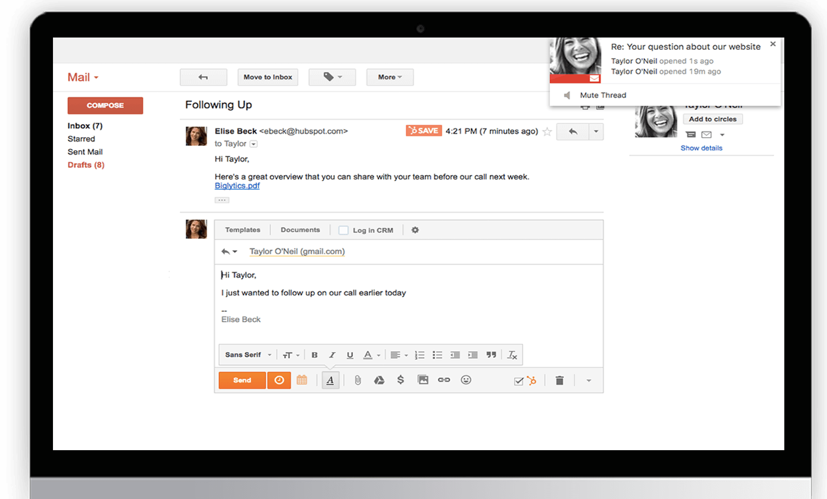Email Integration with HubSpot CRM Software