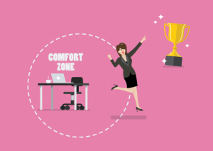 Step out of your comfort zone to grow business