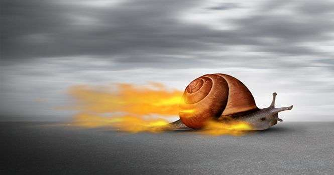 Be the Fastest Snail You Can Be. Be the Snail-on-fire